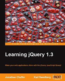 Learning jQuery 1.3 Cover